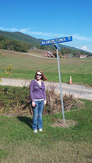 Wildwood Flower - Wildwood Flower Drive at the Carter Family Fold at Maces Springs, Virginia now Hiltons, Virginia.  The Drive is named after the Carter Family hit song.