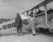 William R. Coyle with USMC officer and VE-7 plane 1925.jpg