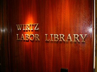 Wirtz Labor Library - Image: Wirtz Labor Library sign