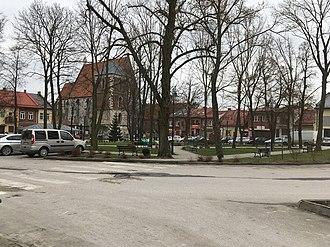 Wiślica - Wislica Central Park, located in the center of Wislica. The photo was taken on 25 Dec 2017