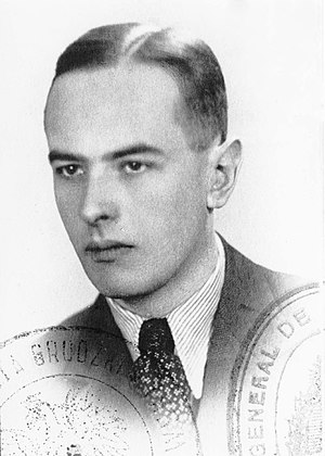 Witold Gombrowicz - Passport photo, 1939