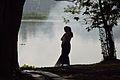 Woman - Santragachi Lake - Howrah 2013-01-25 3603.JPG