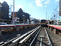 Woodmere LIRR Station; Train Leaves.JPG