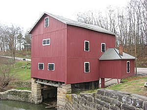 National Register of Historic Places listings in Wyandot County, Ohio - Image: Wyandot Indian Mill, northeastern corner