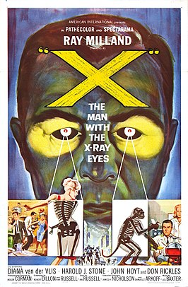 Aanplakbiljet voor X: The Man with the X-ray Eyes