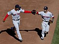 Xander Bogaerts and Dustin Pedroia on March 31, 2014.jpg