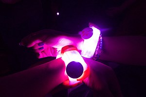 Xyloband - Coldplay's second version of the Xylobands, in use during a concert on the A Head Full of Dreams Tour.