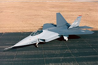 Lockheed YF-22 Prototype fighter aircraft for the US Air Force Advanced Tactical Fighter program