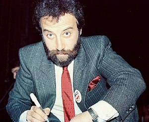 Yakov Smirnoff - Smirnoff at a Hands Across America promotional event in 1986