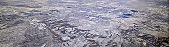 Yampa River - Image: Yampa River aerial with snow