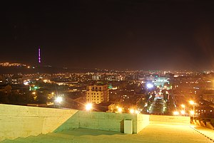Yerevan TV Tower - Yerevan TV tower at night