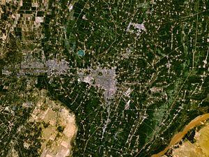 Yinchuan - Satellite image of Yinchuan