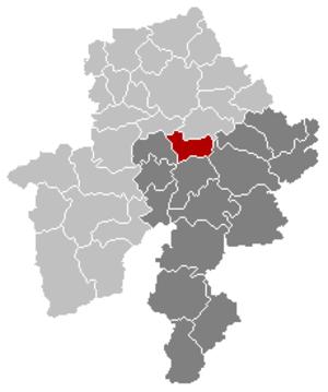 Yvoir - Image: Yvoir Namur Belgium Map