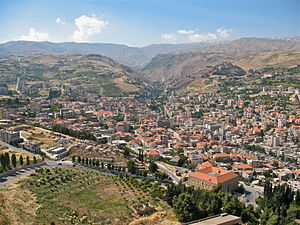 Battle of Zahleh - Town of Zahle. The battle took place in the mountains surrounding the town and the roads leading to it.