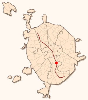 February 2004 Moscow Metro bombing - The location of the metro blast on the map of Moscow