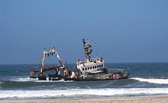 Skeleton Coast - Zelia India shipwreck, south of Henties Bay, November 2014