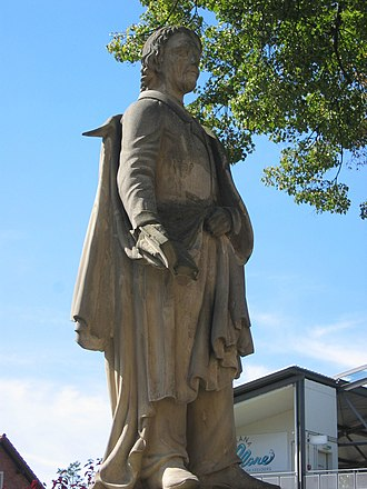 Johann Kaspar Zeuss - Statue of Zeuss in Kronach.