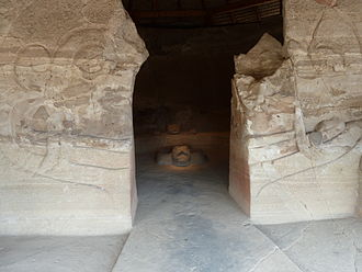 Eagle warrior - The entrance into the inner chamber of the Eagle Warriors Temple in Malinalco, Mexico