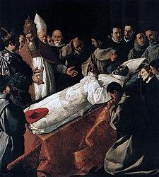 Francisco de Zurbarán: L'Exposition du corps de Saint Bonaventure