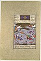 """Giv Avenges Bahram by Slaying Tazhav"", Folio 248r from the Shahnama (Book of Kings) of Shah Tahmasp MET DP107154.jpg"
