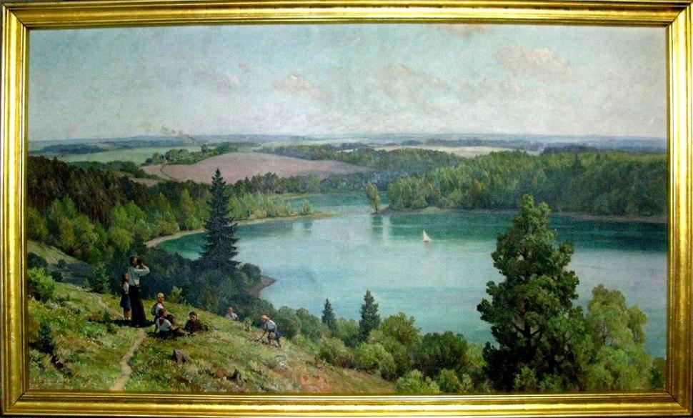 """""""The Green Lake"""" by Czeslaw Znamierowski, 145 x 250 cm, 1955"""