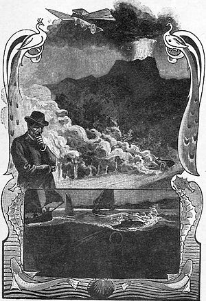 Master of the World (novel) - Illustration from the original publication. Drawing by Georges Roux.