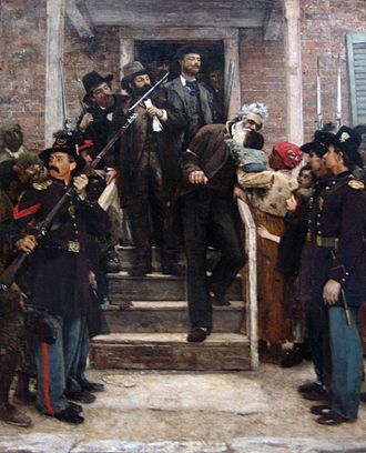 1859 in the United States - The Last Moments of John Brown by Thomas Hovenden, 1882–1884