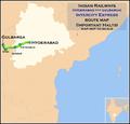 (Hyderabad - Gulbarga) Intercity Express route map.png