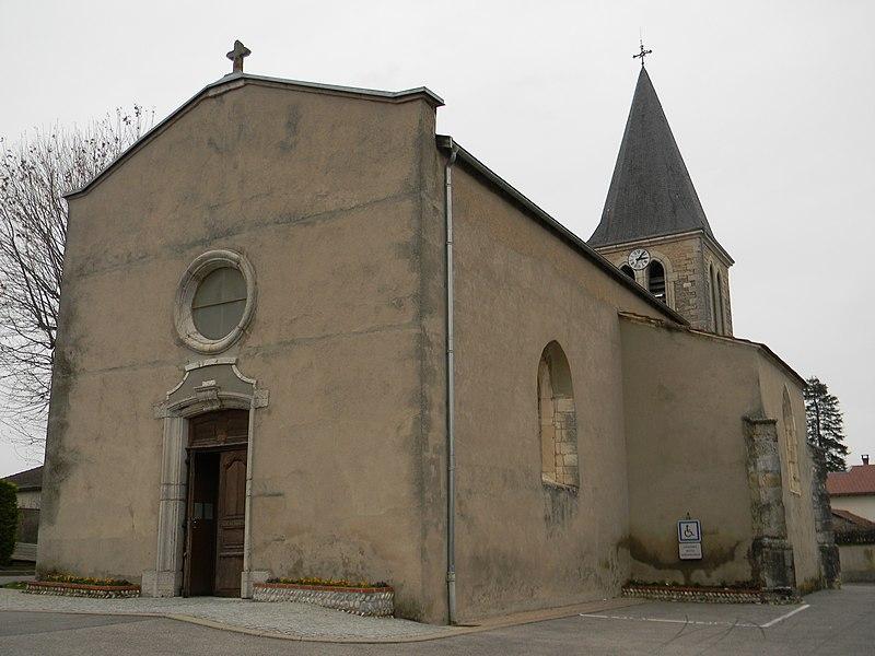L'église de Balan, dans l'Ain.