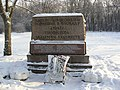 Братская могила профессоров Академии художеств на Смоленском кладбище в Ленинграде.JPG
