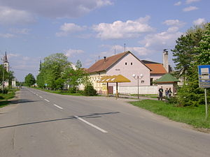 Tovariševo - Main street and village center