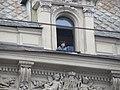 Девушка в окне. Мансарда, Невского, 66. Дом купца Шарова. Петербург. Июль 2012 - panoramio.jpg