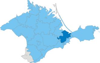 Kirovske Raion - Image: Карта схема Крыма Кировский район