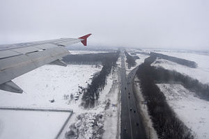 Highway M03 (Ukraine) - Image: М03 (E40) near Boryspil International Airport