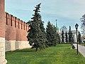 Тула, Кремль. Участок стены к Одоевской башне. Снято с другого ракурса.jpg