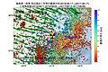 福島第一原子力発電所周辺の過去1年間の地震の震源分布と地殻変動.jpg