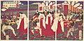 西国鎮静撫諸将天杯賜之図-Illustration of the Commanders who Pacified Western Japan, Receiving the Emperor's Gift Cups (Saigoku chinbu shoshō tenpai o tamau no zu) MET DP147673.jpg