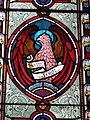-2020-12-05 Stained glass depicting the eagle of Saint John, All Saints, Gimingham.JPG