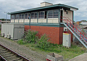 Llandudno Junction railway station - The 1985-built Llandudno Junction signal box