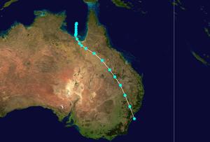 Pre-1970 Southern Hemisphere tropical cyclone seasons - Image: 05P 1950 track