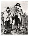 081 Erzherzog Johann tröstet eine Abbrandlerin nach dem Brand von Mariazell (1, 2. November 1827) - Bild nach einem verschollenen Gemälde von Waldmüller 1827.jpg
