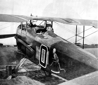 SPAD S.XII - Closeup of Capt. Biddle in his SPAD S.XII.