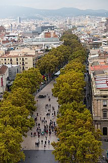 thoroughfare in Barcelona, Spain