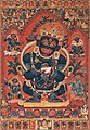 15th-century paintings from Tibet, Central Tibetan - Mahakala, Protector of the Tent - Google Art Project (cropped).jpg