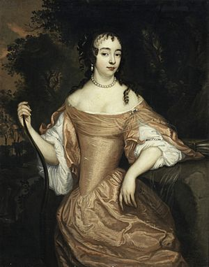 Maria of Orange-Nassau (1642–1688) - Maria of Orange-Nassau by Johannes Mytens, c.1645