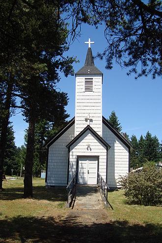 Rainier, Washington - Church built by Gehrke brothers in 1896.