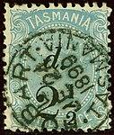 1899 2half surcharge Tasmania Hobart Yv48 SG169.jpg