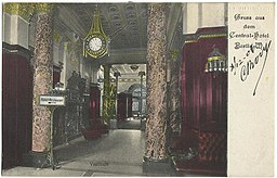 Central-Hotel , Vintage postcards private collection [Public domain], via Wikimedia Commons