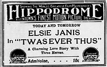 1915 - Hippodrome Theater Ad Allentown PA.jpg
