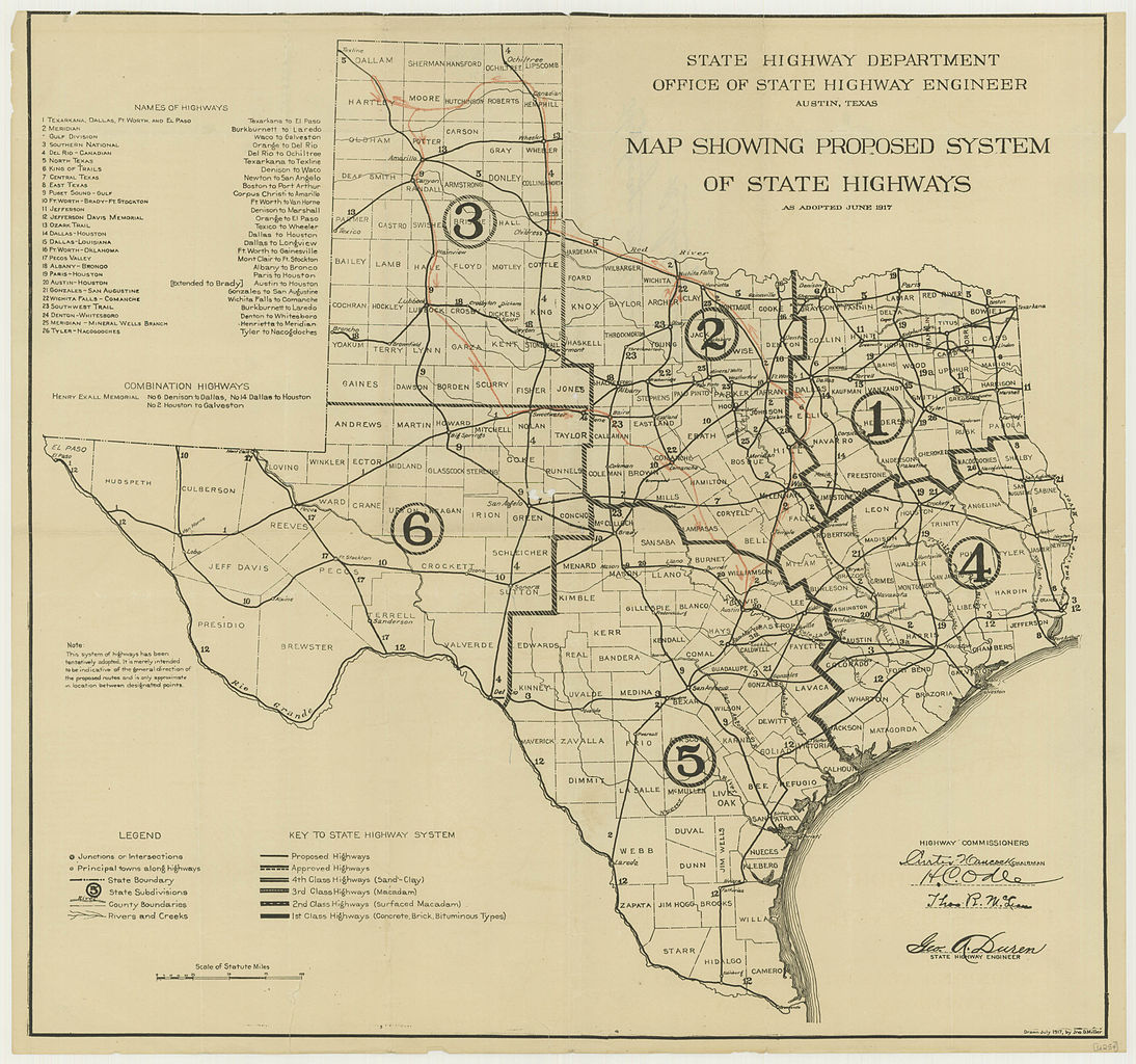 Road Map Of Texas State.File 1917 Texas State Highway Map Jpg Wikimedia Commons